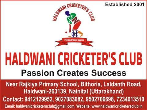 Ad - Haldwani Cricketer's Club