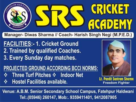 Ad - SRS Cricket Academy