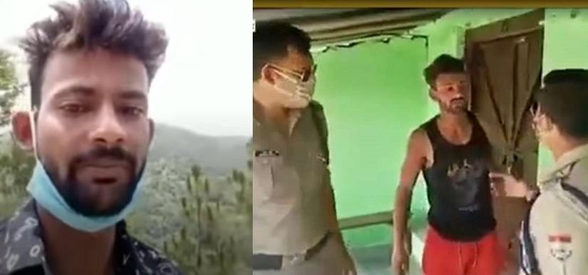 जैंती में उत्तराखंड पुलिस और युवक के बीच हुई तीखी झड़प का वीडियो वायरल,जानें पूरा मामला