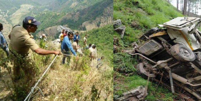पूनाकोट के पास खाई में गिरी बोलेरो, छह साल की बच्ची समेत चालक की मौत