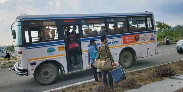 After buses started running interstate, 1500 migrants came back to Haldwani