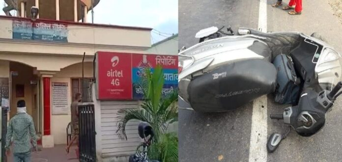 A woman died after scooty hit by intercity bus in Haldwani