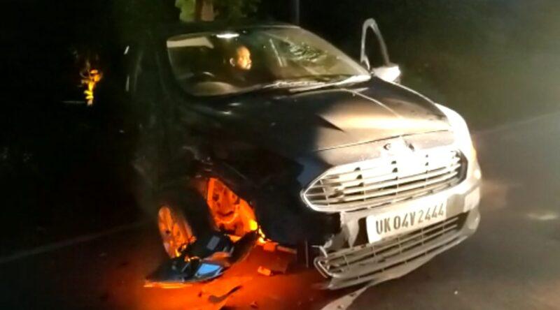 लामाचौड़ में ट्रक ने कार को मारी टक्कर, हल्द्वानी के दो पत्रकार हादसे में घायल