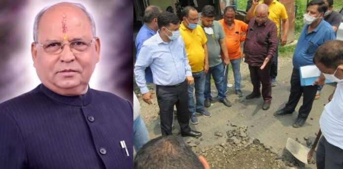 हल्द्वानी कालाढूंगी:सड़कों की घटिया क्वालिटी पर बिफर पड़े कैबिनेट मंत्री,रुकवाया ठेकेदारों का भुगतान