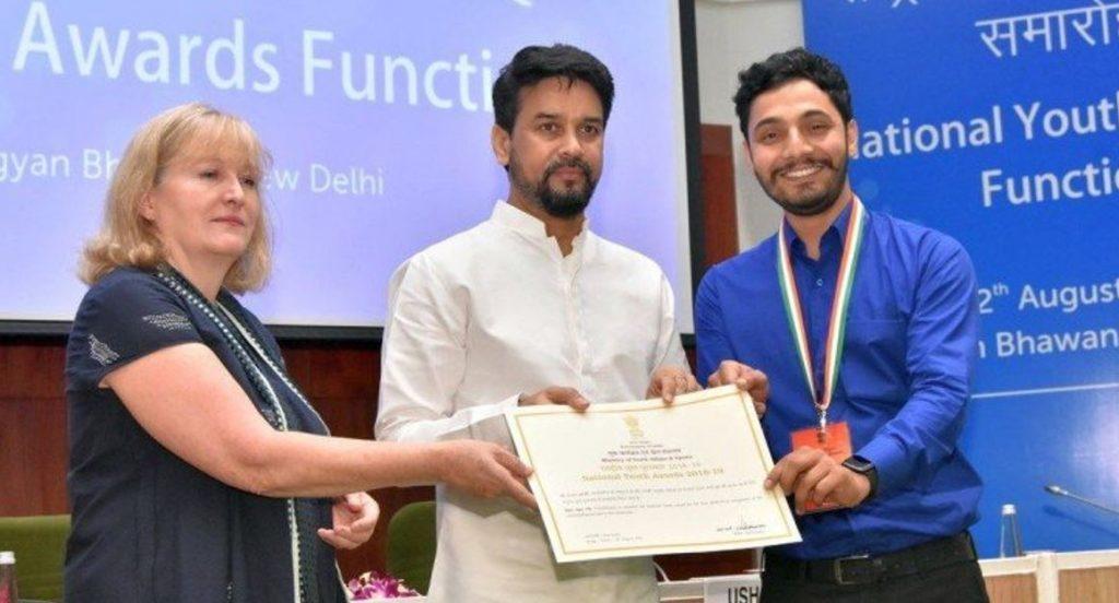 बीते दस सालों में उत्तराखंड को पहली बार, पिथौरागढ़ के अजय ओली को मिला राष्ट्रीय युवा पुरस्कार
