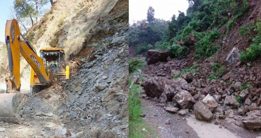 नैनीताल व आसपास के इलाकों में बारिश का कहर, मलबे से ये रास्ते हुए बंद