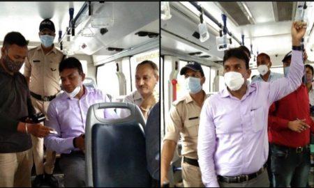उत्तराखंड: DM आर राजेश कुमार ने इलेक्ट्रिक बस में किया सफर, सवारियों के लिए छोड़ी सीट