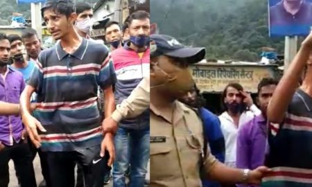 नैनीताल पुलिस ने काटा 40 हजार रुपए का चालान तो डंपर चालक ने की खुदकुशी की कोशिश, खुद पर डाला डीजल