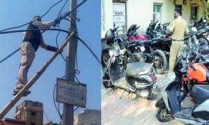 गजब: उत्तराखंड पुलिस ने बाइक सीज की तो बिजली विभाग के कर्मी ने थाने की बिजली काट दी