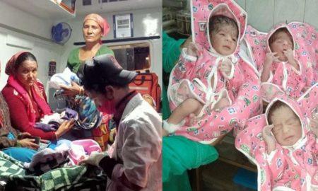 एंबुलेंस सेवा कर्मियों ने बचाई जिंदगी, चौंरीखाल निवासी महिला ने बीच रास्ते में ही दिया बच्चों को जन्म